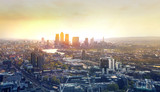 Fototapeta LONDON, UK - APRIL 22, 2015: City of London panorama