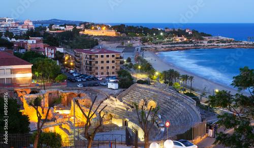 Foto op Aluminium Beijing The Roman amphitheater in evening. Tarragona