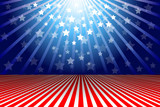 Patriotic Background.  Elements are in separate layers and grouped. Very easy to edit, It contains EPS10 with large resolution JPG. - 84957215