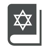 Icono libro judaismo gris