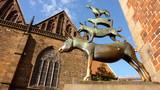 Bremer Stadtmusikanten in der Abendsonne - Fine Art prints