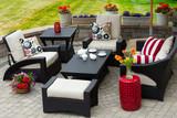 Cozy Patio Furniture on Luxury Outdoor Patio - 84979419