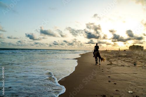 Obama Beach in Cotonou, Benin Poster