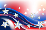 Patriotic Background.  Elements are in separate layers and grouped. Very easy to edit, It contains EPS10 with large resolution JPG. - 84982663