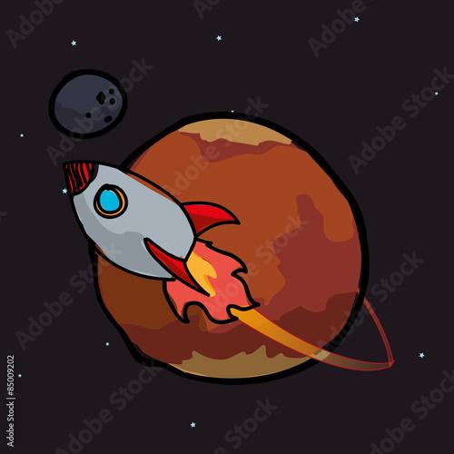 Foto op Aluminium Kosmos Spaceship design
