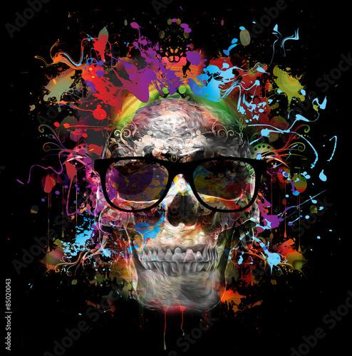 череп в очках - 85020043