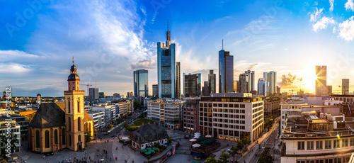 Foto op Aluminium New York Aerial view of Frankfurt