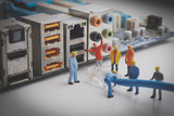 Miniature Network Engineers At Work - Fine Art prints