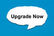 Постер, плакат: upgrade now with white paper tears