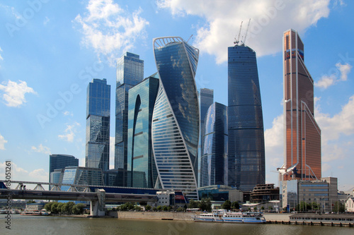 Moscow-City business center, Russia Poster