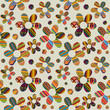 Seamless background with ethnic motifs patterned flowers