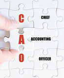 Last puzzle piece with Business Acronym CAO poster
