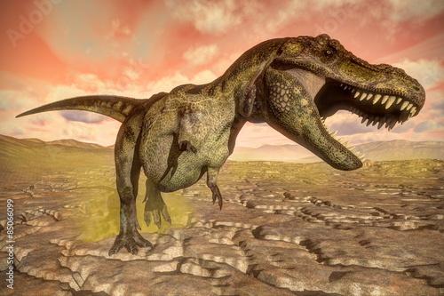 tyrannosaurus-rex-dinozaur-ryczy-3d-render