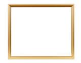Golden decorative empty picture frame - 85071265