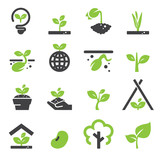 Fototapety sprout icon set