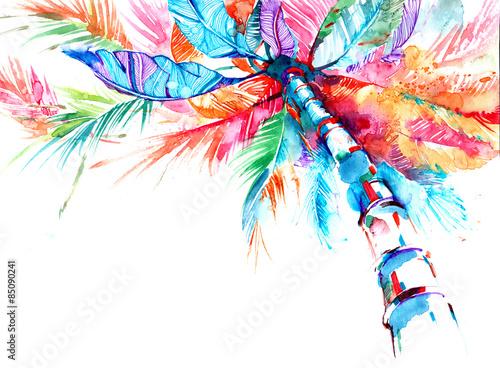 Poster Schilderingen palm