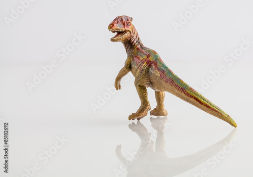 Poster Dinosaur toy isolated on white