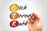 Click Through Rate (CTR), business concept acronym