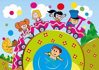 dzieci,zabawa,lato,jezioro,wakacje,odpoczynek,turystyka