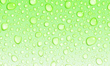Light green background of water drops