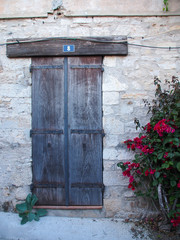 Door with flowers in Provence