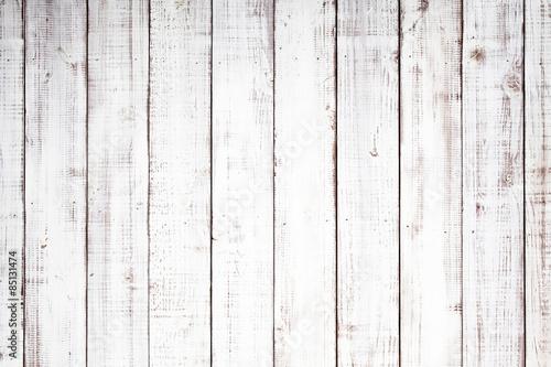 Naklejka 白い木板のテクスチャ背景