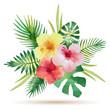 Cotton fabric Watercolor bouquet