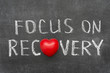 Sticker - focus on recovery