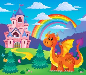 Image with happy dragon theme 7