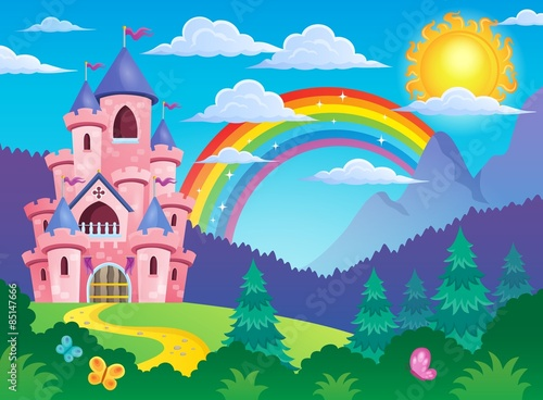 Pink castle theme image 4 Plakát