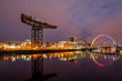 Постер, плакат: Finneston Crane and Clyde Arc bridge