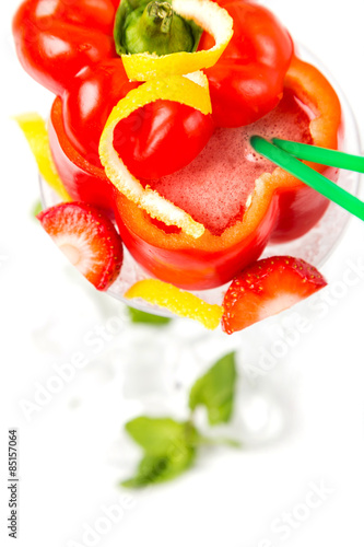 long coctail in red pepper with decoration Poster