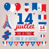 Set design elements for The Bastille Day 14 july