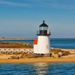 Brant Point Light Lighthouse, Nantucket Harbor, Nantucket, Massachusetts, USA..Brant Point Light Lighthouse, Nantucket Harbor, Nantucket, Massachusetts, USA