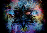 Fototapety Flower Mandala and  color abstract  background.