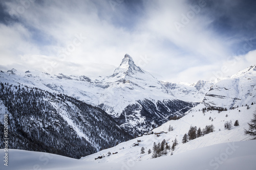 Matterhorn covered in Snow Poster