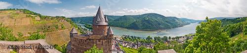 Burg Stahleck über dem Rhein bei Bacharach