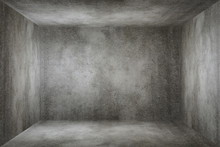 Old grunge gray concrete texture wall room background.