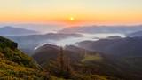 Fototapeta Sunrise in the Carpathian mountains