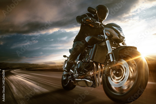 Poster Fast Motorbike