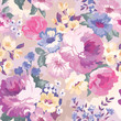 Beautiful seamless floral pattern with watercolor background. Flower vector illustration - 85251063