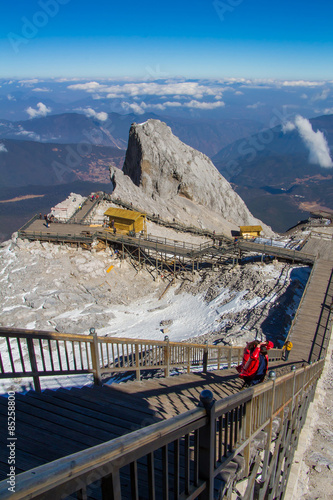 Foto op Canvas view form top of Jade Dragon Snow Mountain
