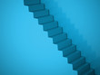 Blue spiral stairs concept