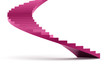 Pink spiral stairs concept rendered