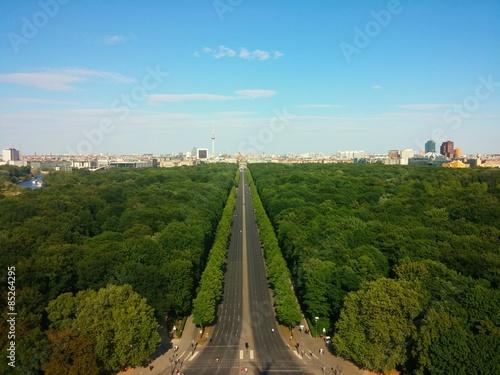 Berlin im Sommer von oben