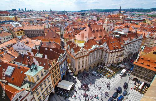 Poster Über den Dächern Prags