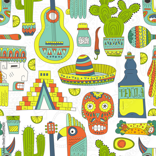 Mexico Seamless Pattern © faveteart
