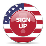 sign up american icon