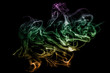 Colorful smoke on black background. Smoke abstraction.