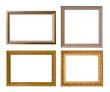 Sticker - Gold frame Elegant vintage Isolated on white background